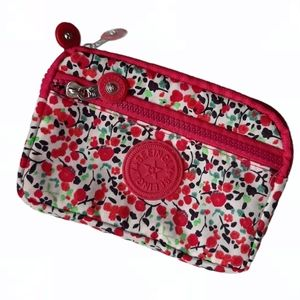 Seeingly Floral Wallet Pouch Clutch Zippered Bag